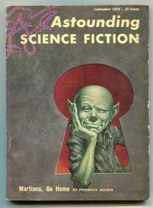 Astounding Science-Fiction Pulp September 1954- Martians Go Home