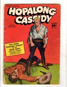 Hopalong Cassidy # 24 VG Golden Age Fawcett Comic Book Western Cowboy JL16