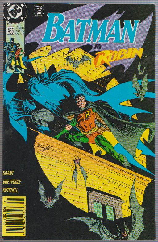 BATMAN WITH ROBIN #465 - 1991 - DC COMIC - BAGGED & BOARDED