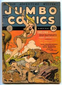 Jumbo Comics #42 1942- SHEENA- 1st Ghost Gallery