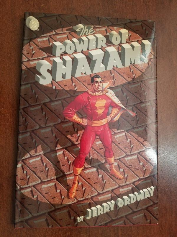 The Power of Shazam! Captain Marvel Jerry Ordway Hardcover -Out of Print!! Rare!