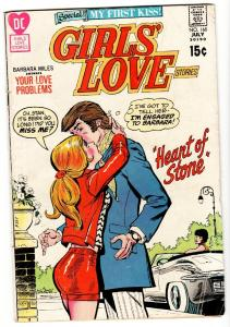 GIRLS' LOVE STORIES #160-comic book DC ROMANCE-My First Kiss