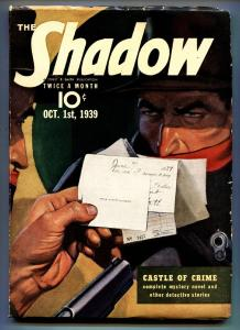 SHADOW 1939 Oct 1-high grade- STREET AND SMITH-RARE PULP vf-