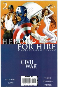 Heroes For Hire #2 (2006 v2)  Jimmy Palmiotti Justin Gray Civil War NM