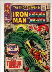 Tales of Suspense #93 (Sep-67) VG/FN+ Mid-Grade Iron Man, Captain America