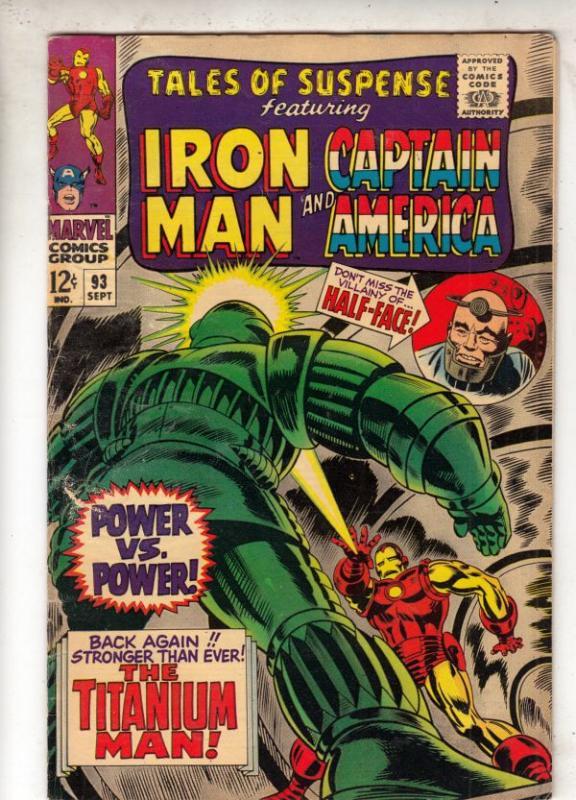 Tales of Suspense #93 (Sep-67) VG/FN+ Mid-Grade Iron Man, Captain America