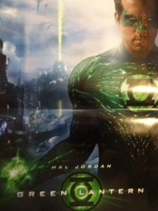 GREEN LANTERN HAL JORDAN Promo Poster, 11.5 x 17, 2017, DC Unused 393