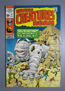Where Creatures Roam (1970 Series)  #8 VG  Actual Photo