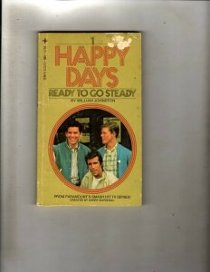 2 Pocket Books Happy Days Ready to Go Steady, The High Cost of Dying JL22
