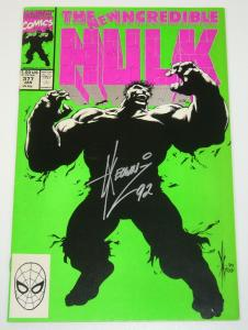 The Incredible Hulk #377 signed by Dale Keown and Peter David - Marvel comics