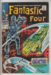 Fantastic Four #74 (May-68) VG/FN Mid-Grade Fantastic Four, Mr. Fantastic (Re...