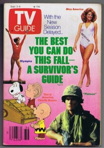 ORIGINAL Vintage TV Guide September 3, 1988 No Label Miss America Peanuts Snoopy