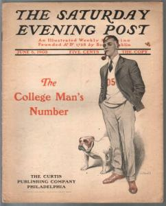 Saturday Evening Post 6/6/1903-JJ Gould-100+ years old-pulp fiction-FR