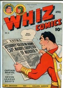 WHIZ  #64 1945-FAWCETT-CAPT MARVEL-SPY SMASHER-IBIS-MARY MARVEL-fn/vf