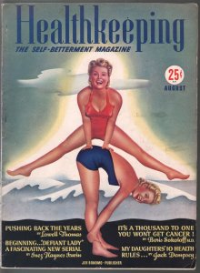 Healthkeeping #1 8/1940-1st issue-spicy swimsuit girls-pulp fiction-FN/VF