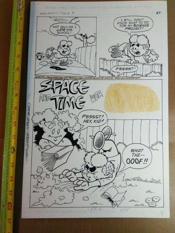 Original art: Chris Allan - Little Archie Digest #1 pg 27 splash!