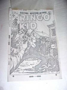 RINGO KID CVR+OVERLAY-MARVEL PRODUCTION ART