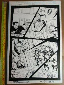Original Art: Jim Calafiore & Pete Palmiotti - Venom the Hunted #3 pg 12 back-up
