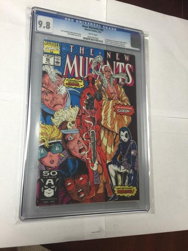 Deadpool 1-4 1-69 1 Shots Annuals New Mutants 98 X-force Appearances All Cgc 9.8
