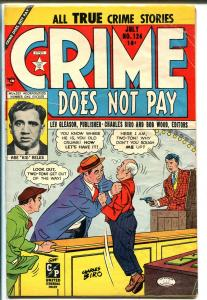 Crime Does Not Pay #124 1953-Lev Gleason-prison break-violence-terror-VG/FN