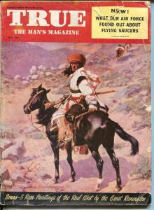 True 5/1954-Fawcett-Frederic Remington cover-flying Saucer-O'Malley-FR/G