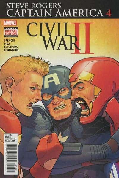 Captain America: Steve Rogers #4, NM + (Stock photo)