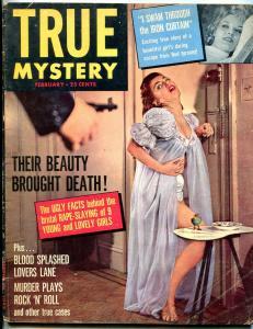 True Mystery Magazine February 1957- Murder Plays Rock n Roll VG