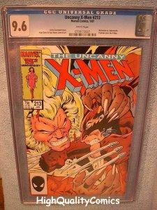 X-MEN #213, CGC 9.6, NM+, WP, Wolverine vs Sabretooth, more CGC in store