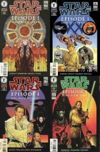STAR WARS EPISODE 1 Amidala,Anakin,Obi,Qui ART CVRS