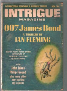 Intrigue #2 11/1965-Peter Baron-007 James Bond-Ian Flemig-pulp digest=VG