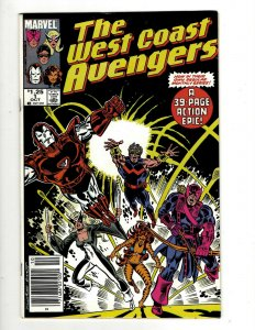 12 The West Coast Avengers Marvel Comic Books #1 3 4 5 7 8 10 11 12 13 15 16 GB2