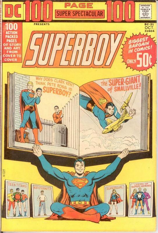 DC 100 PAGE SUPER SPECTACULAR DC-21 F-VF Oct. 1973 COMICS BOOK