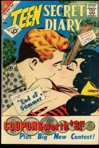 TEEN SECRET DIARY #10-END OF SUMMER-CHARLTON ROMANCE VG/FN