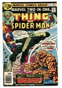 Marvel Two-In-One #17 1976 Thing- Spider-Man-High Grade