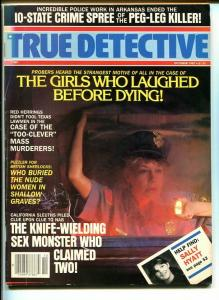 TRUE DETECTIVE-SEPT 1987-VG/FN-HARD BOILED-SPICY-MURDER-RAPE-KNIFE-WIE VG/FN