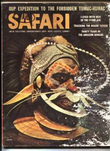 Safari Pulp Magazine July 1956- Hunting- Mant Rays- Gorillas Pygmies FR/G