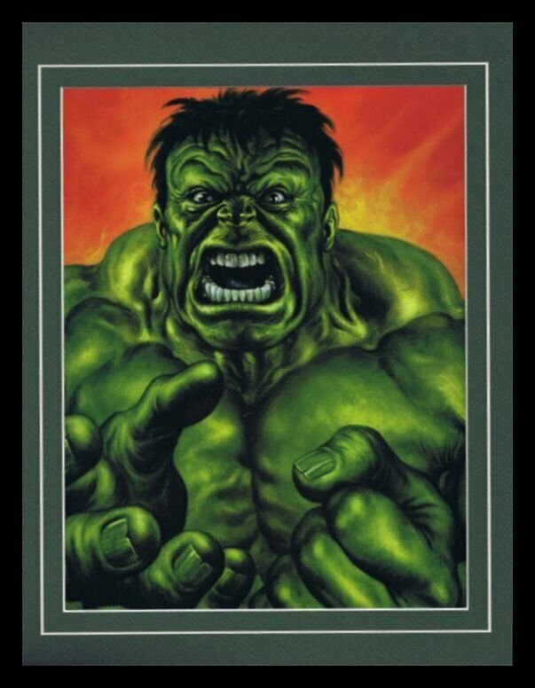 Incredible Hulk Framed 11x14 Marvel Masterpieces Poster Display