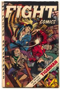 Fight Comics #86 1954- LAST ISSUE- Tigerman VG-