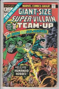 Super-Villian Team-Up #2 (Oct-75) VF High-Grade Namor the Sub-Mariner, Doctor...