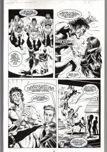 TOD SMITH-ELVIRA #134-TALES OF TEA BISCUIT -ORIGINAL ART PAGE 8-QUEEN 'B' FN