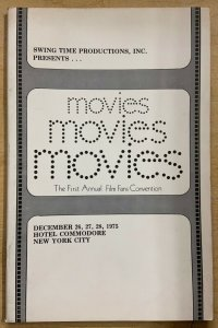 MOVIES: FIRST ANNUAL FILM FANS CONVENTION PROGRAM! Dec 1975, New York City
