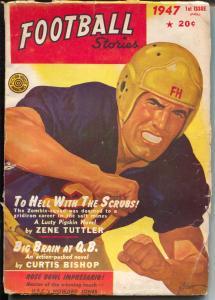Football Stories -Fall 1947-George Gross cover-Rose Bowl-USC-Howard Jones-VG