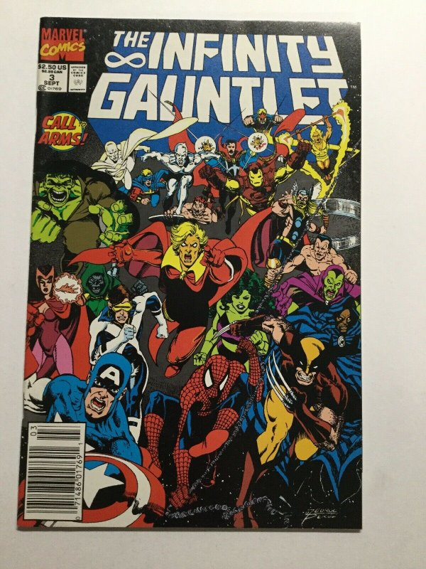 Infinty Gauntlet 2 Near Mint Nm Newsstand Edition Marvel