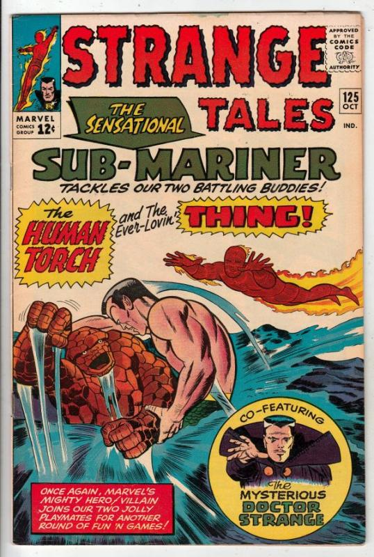 Strange Tales #125 (Oct-64) VF/NM High-Grade Human Torch, the Thing, Doctor S...