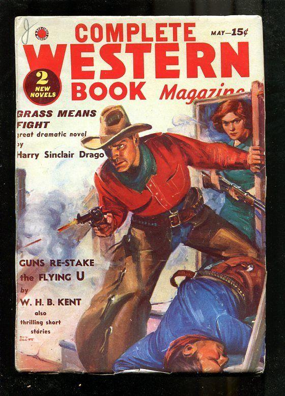 COMPLETE WESTERN PULP-1938-MAY-W. HB KENT-JW SCOTT COVR FN