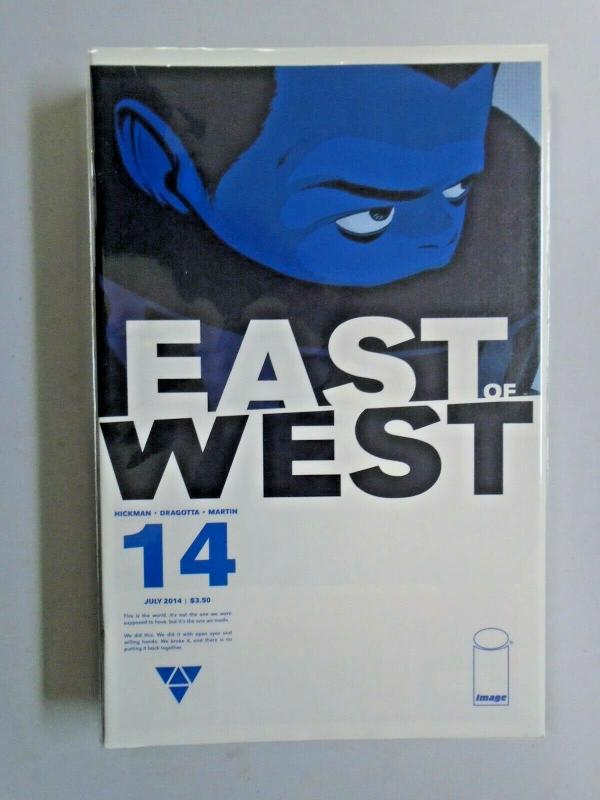 East of West lot #14 to #32 - 16 different books - see pics - 8.0 - 2014