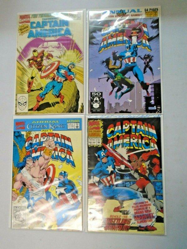 Captain America Annual #9-12 8.0 VF (1990-1993)