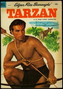 Tarzan Comics #42 1953- Lex Barker photo cover- Dell VG/F