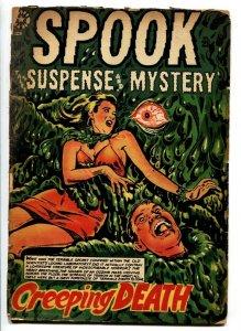 SPOOK #28 L.B. Cole pre-code horror-eye ball cover-Rulah