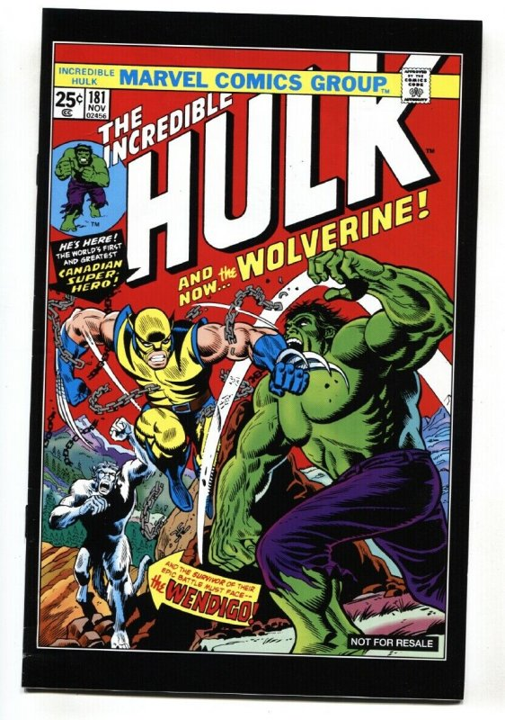 INCREDIBLE HULK #181 hard to find 2012 reprint VF+